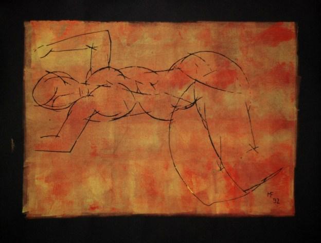 Liegende, 1992, Farbdruck, 49 x 63