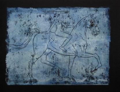 Reiterin, 2009, Farbdruck, 24 x 31