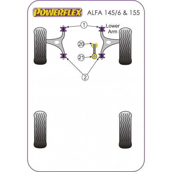Silentblock de Powerflex para Alfa Romeo 145, 146, 155