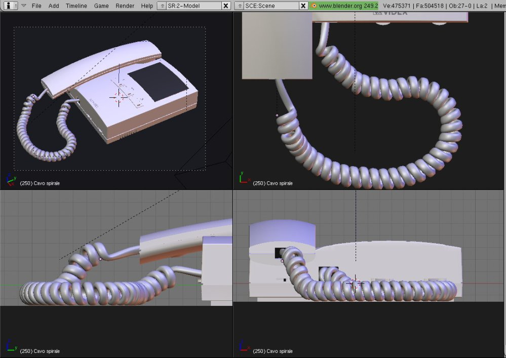 Tutorial: how to model (and render) a realistic spiral cable in Blender (and Yafaray)/2 (5/5)