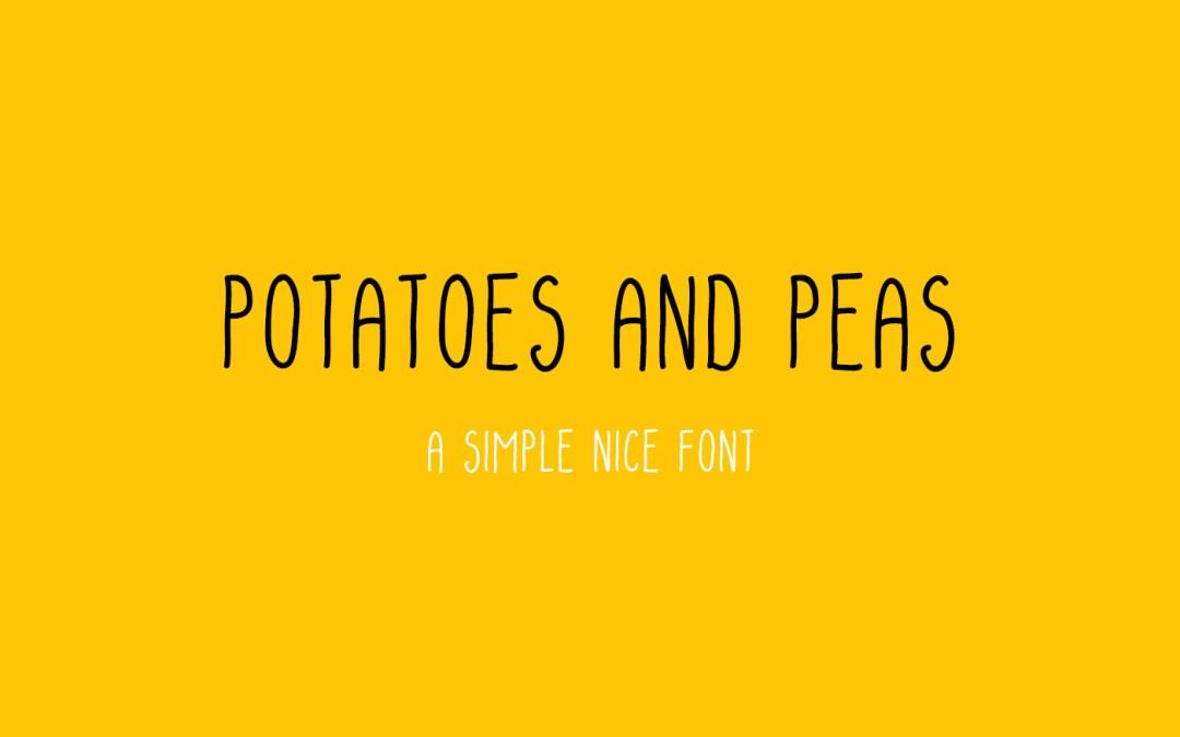 Potatoes and peas