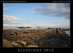 I detriti trascinati sulla spiaggia dalle onde. Rami ed arbusti ricoprono il bagnasciuga.Debris on the beach.