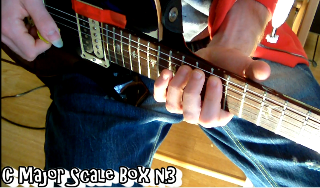 C Major Scale Box n.1-2-3 Guitar Lesson - Learn How to Play Scale - Online Guitar Lesson