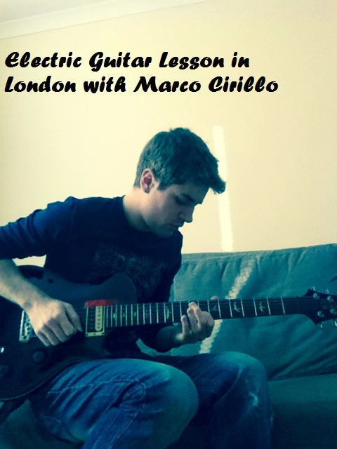 London Electric Guitar Lesson with Marco Cirillo Pro Guitar Teacher in London - Kilburn - Central london - Kensington