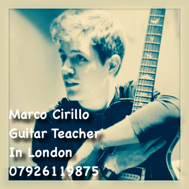 Learn Guitar in London - Guitar Teacher in London - Electric, Acoustic and Classical Guitar Lesson with Marco Cirillo, Qualified Guitar Teacher in London.