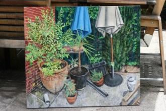 Painting in progress, Marco Corsini