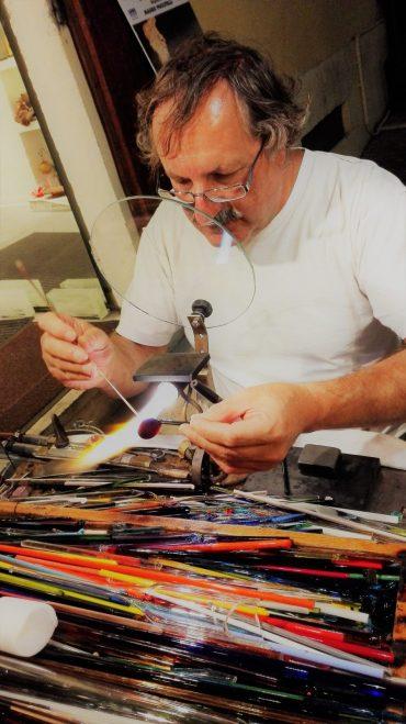 Mauro Puccitelli a lavoro