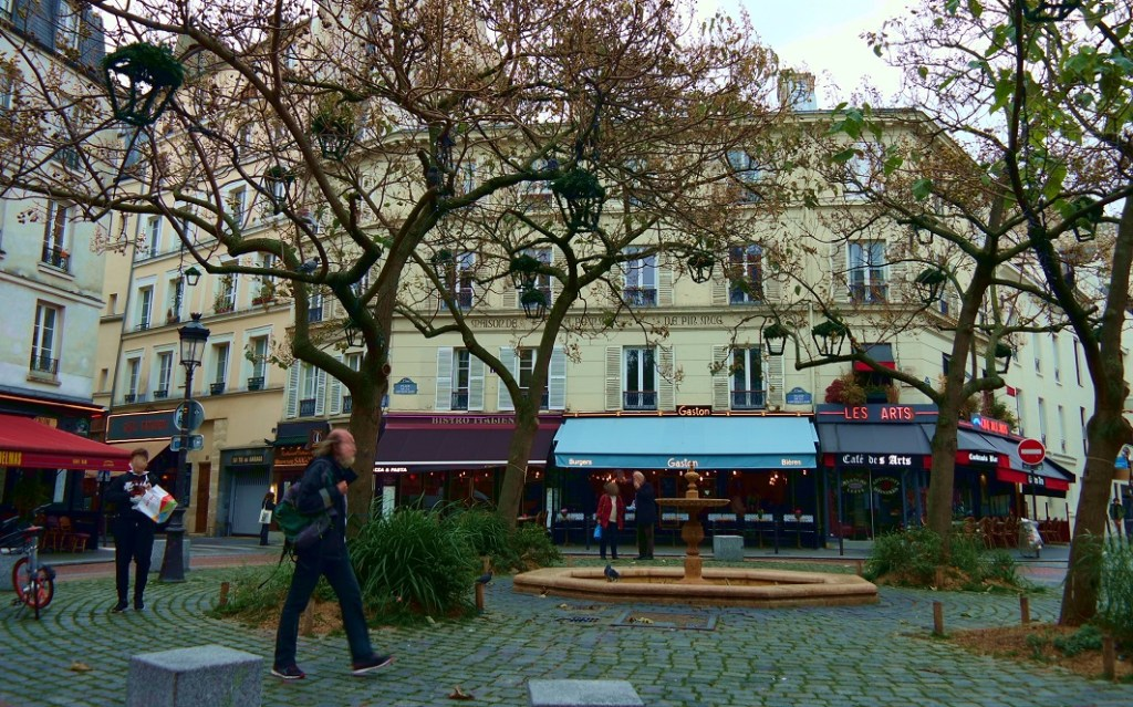 Place de la Contrescarpe è Savoire Faire - alberi addobbati per il natale