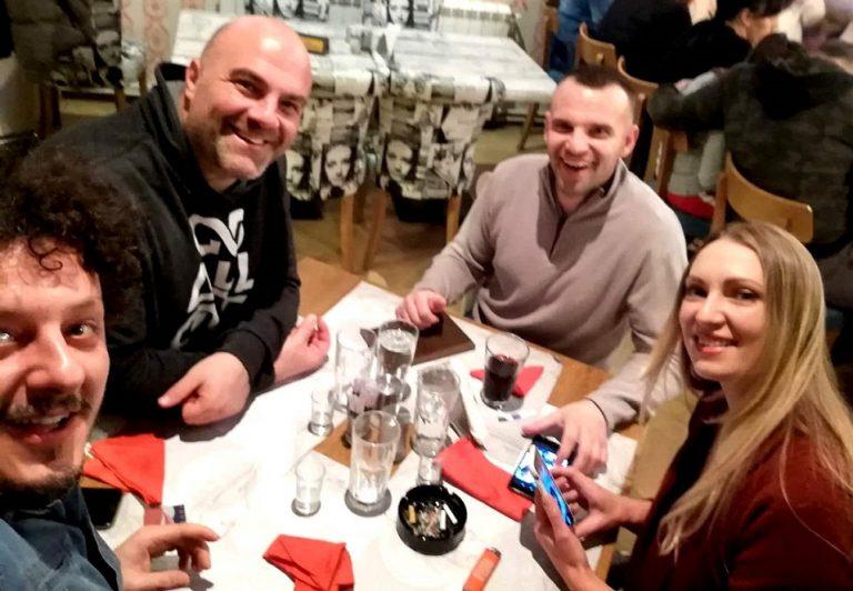 Cena con Branko ed Evgenia a Gornij Milanovac in Serbia.