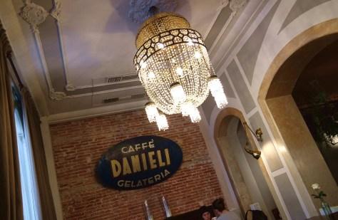 Caffè Danieli, particolare interno del locale.