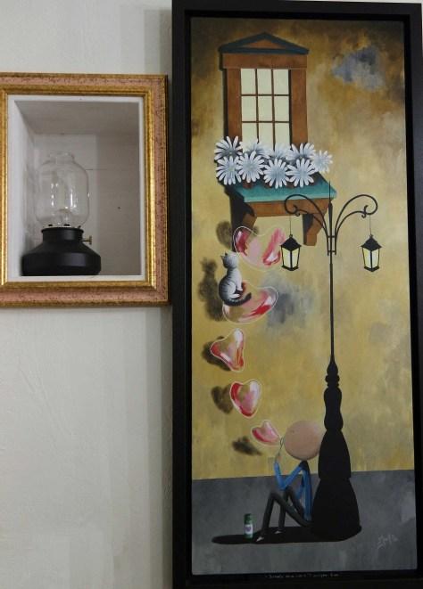 La Petriola, cantina d'arte. Un'opera esposta.