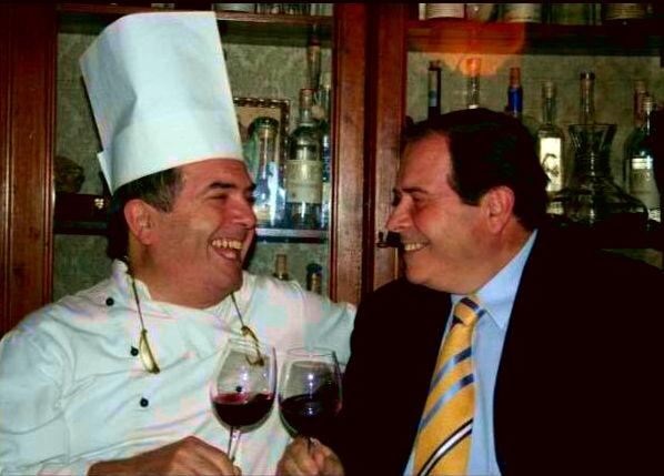 Lino Gagliardi, cucina e natura - nella foto d'archivio con suo fratello Angelo.