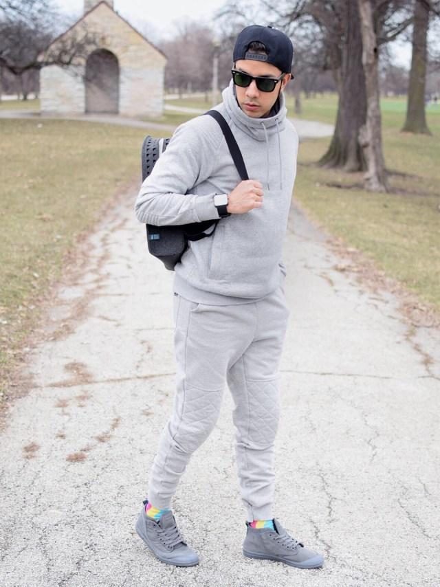 jogger com blusa moletom