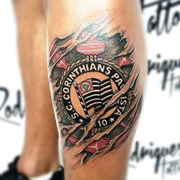 tatuagem de time