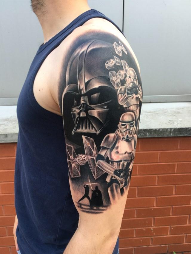 tatuagem masculina star wars