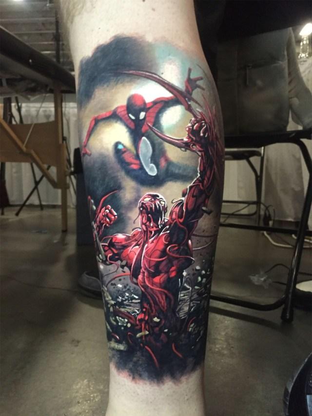 tatuagem masculina tema marvel