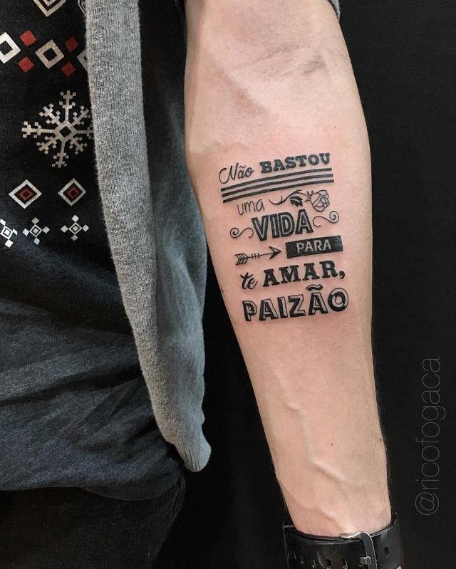 tatuagem masculina homenagem ao pai