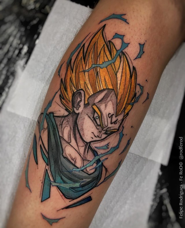 Tatuagem do Majin Vegeta - Felipe Rodrigues