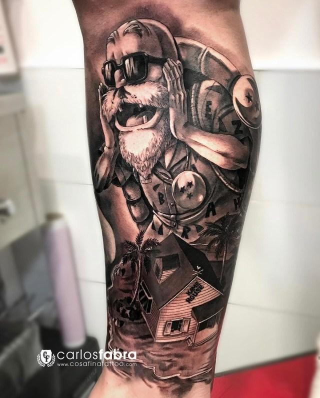 Tatuagem do Mestre Kame Dragon Ball