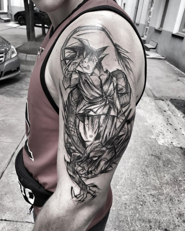 Tattoo Shenlong e Goku