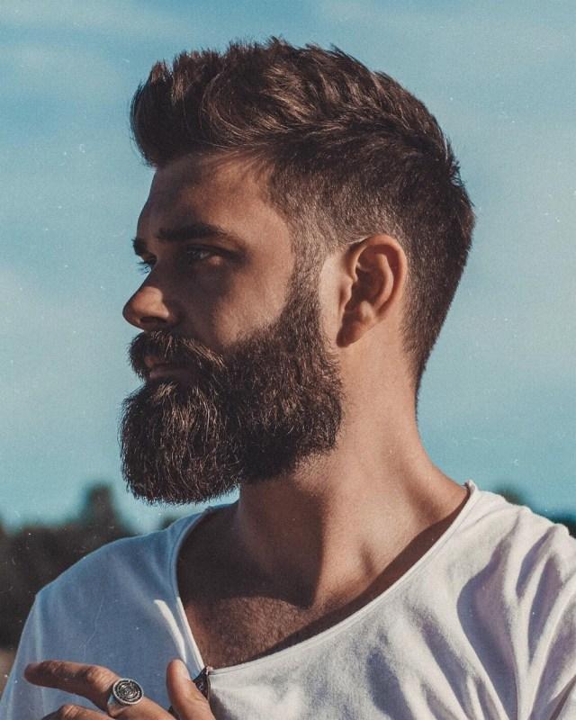 Estilo de barba quadrada