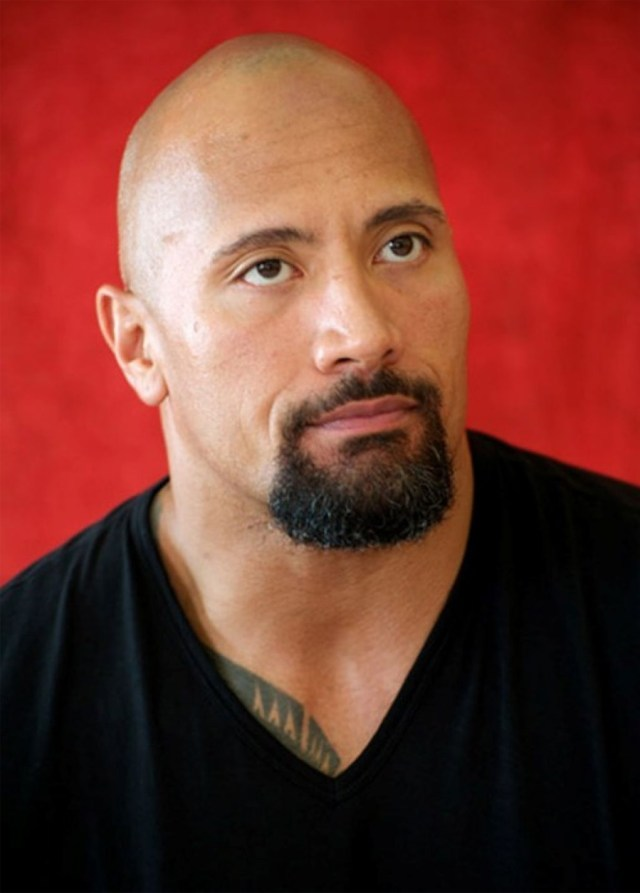 Goatee do ator Dwayne Johnson