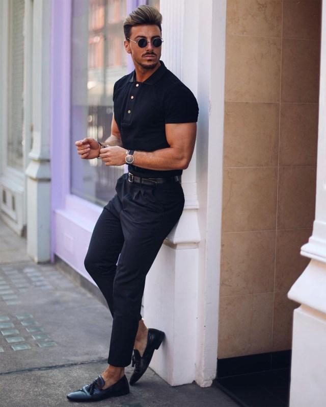 Look masculino all black