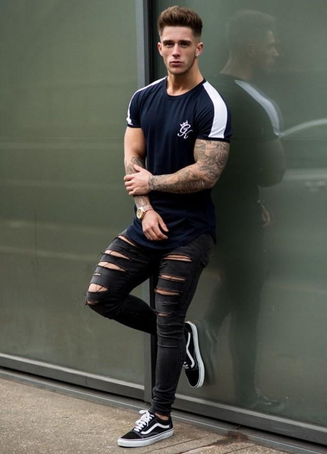 Look masculino com tênis Vans Old Skool