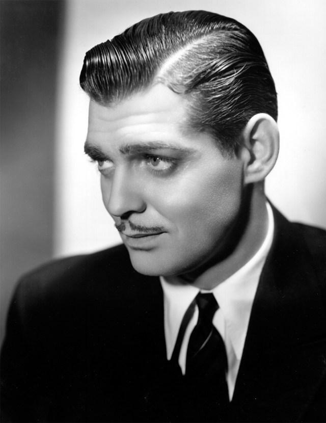 Estilo de bigode Clark Gable