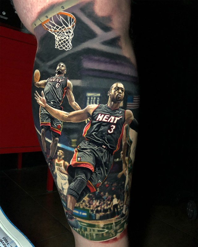 Tatuagem realista do LeBron James