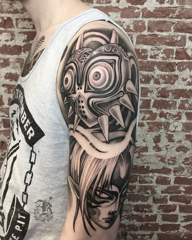 Blackwork tattoo para homens no braço