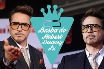 A barba do ator Robert Downey Jr