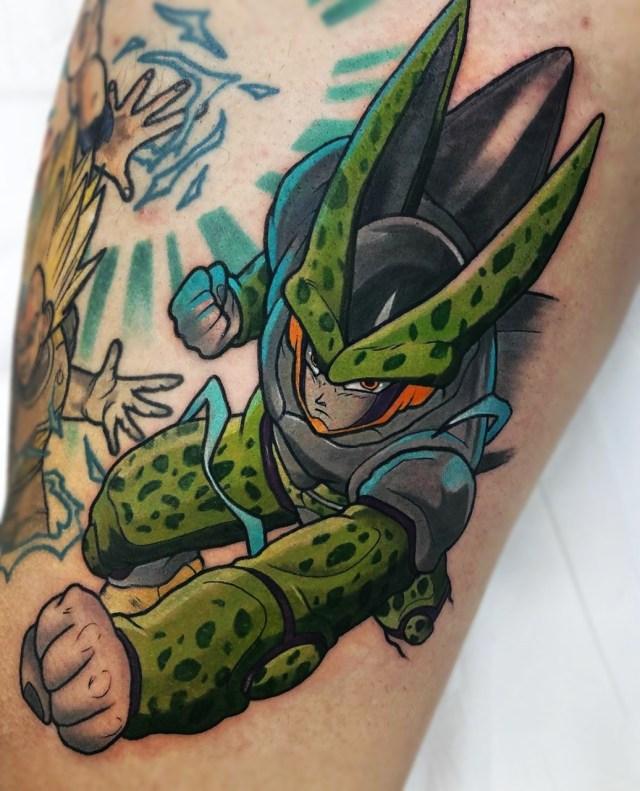 Tatuagem colorida do anime Dragon Ball