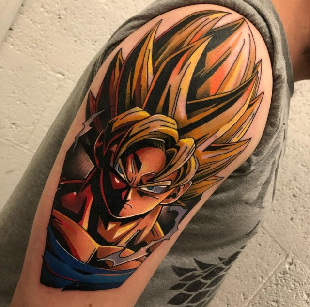 Tatuagem do Goku