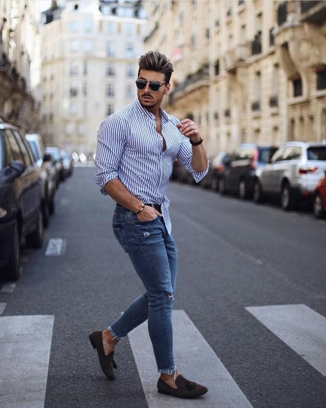 Look masculino casual despojado para primavera