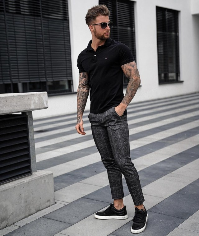 Look masculino com calça de alfaiataria