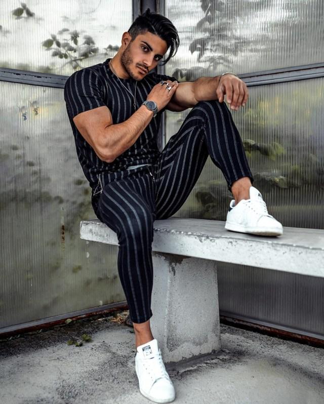 Moda masculina: listras verticais