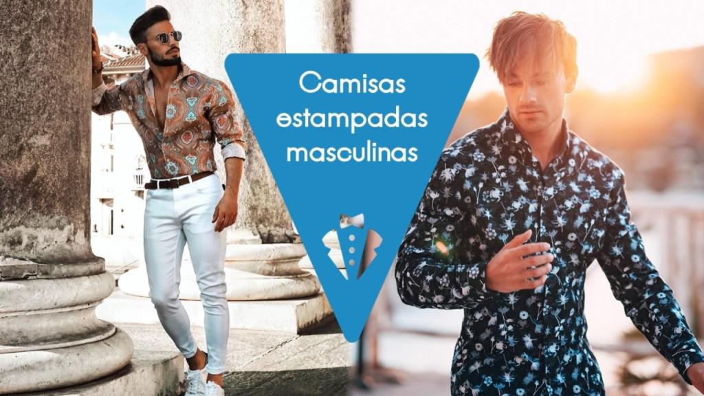 Camisas estampadas masculinas