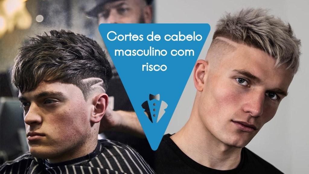 Cortes masculinos com risco no cabelo