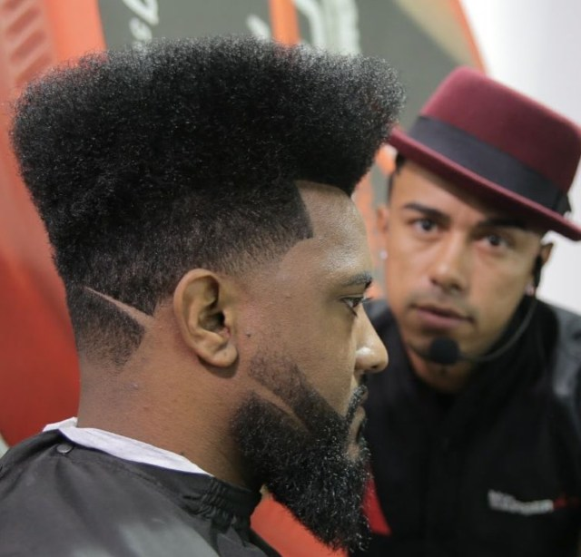 Flat Top hair design for men