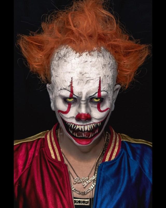 Pennywise: maquiagens de Halloween para homens