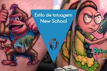 O que é tatuagem New School