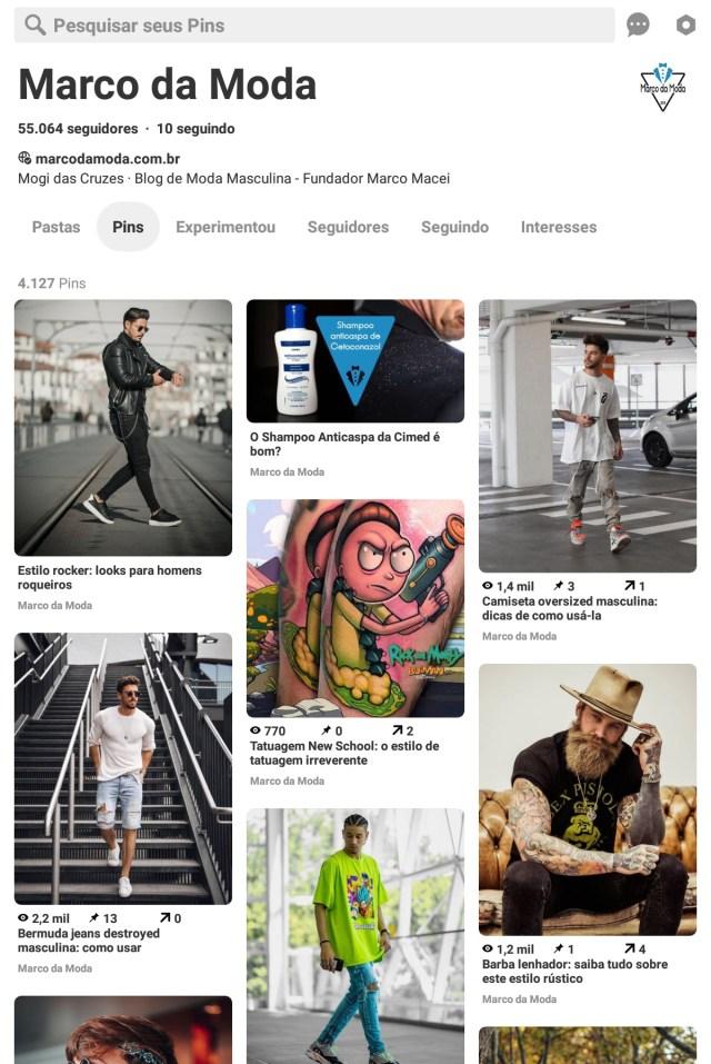Moda masculina: Pinterest Marco da Moda
