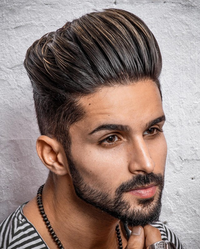 Slicked Back haircut for men