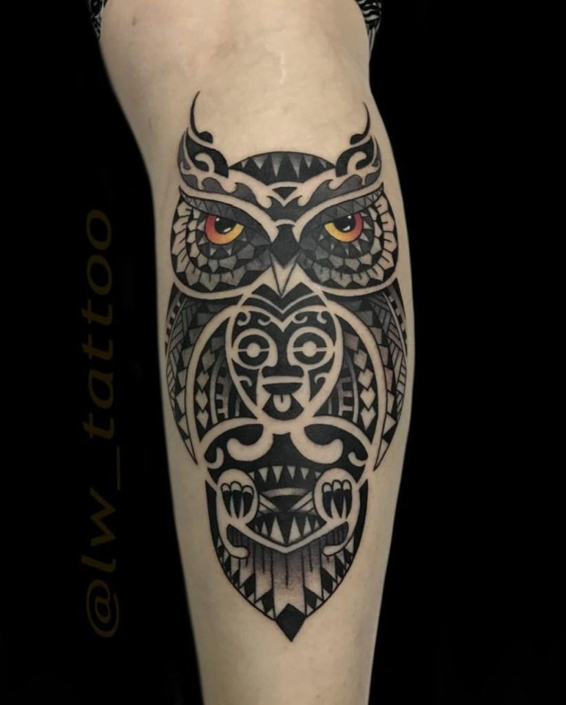 Coruja no estilo Maori