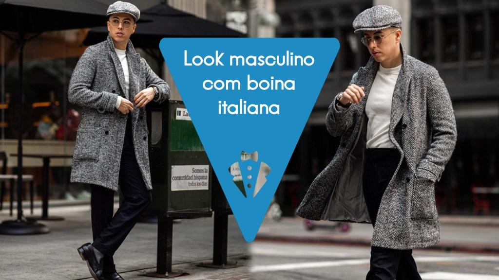 Look masculino com boina italiana