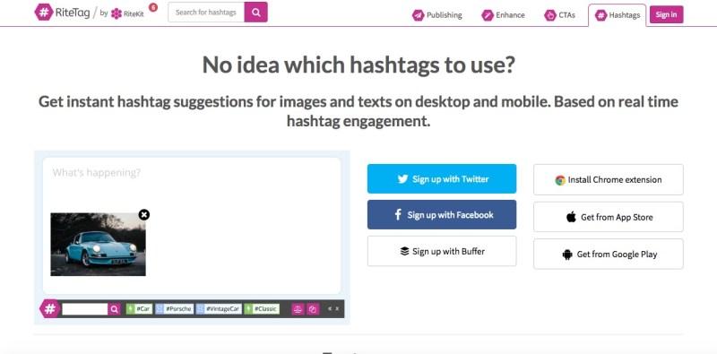 ritetag trova gli hashtag giusti