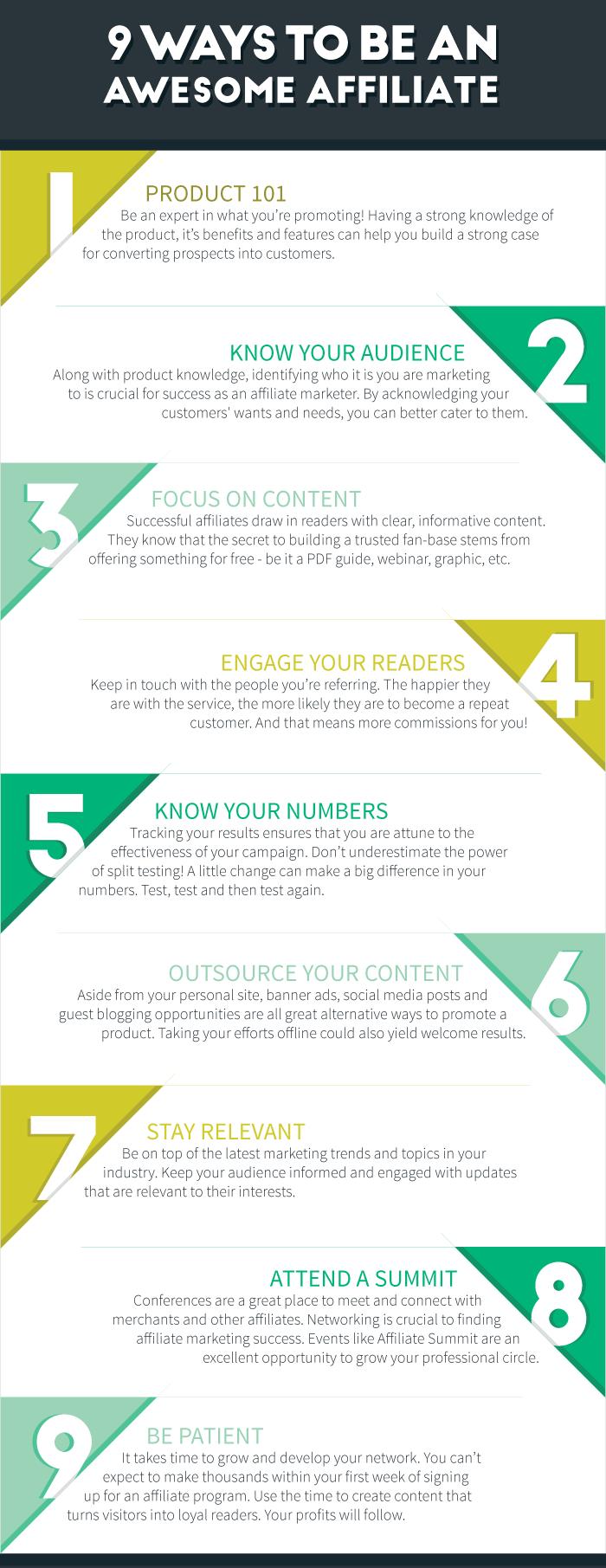 9 passi per diventare un super affiliato