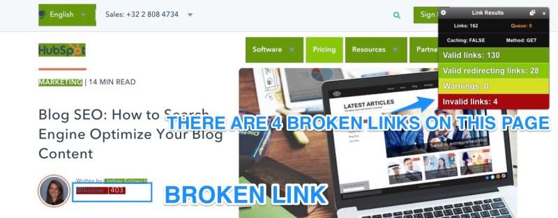 broken links seo technique
