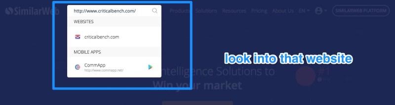 cerca su similarweb l offerta di clickbank
